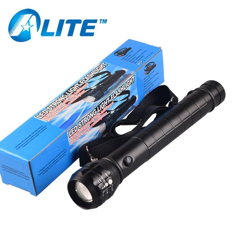 5 watt LED zoom taktstock fackel licht 18650 oder 3 D größe batterie polizei sicherheit taschenlampe laterne kalt weißes licht