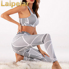 Laipelar 2018 Women fitness tracksuits Two Piece Set Sexy Sporting Bra sporting Top+Long workout Pants Suits