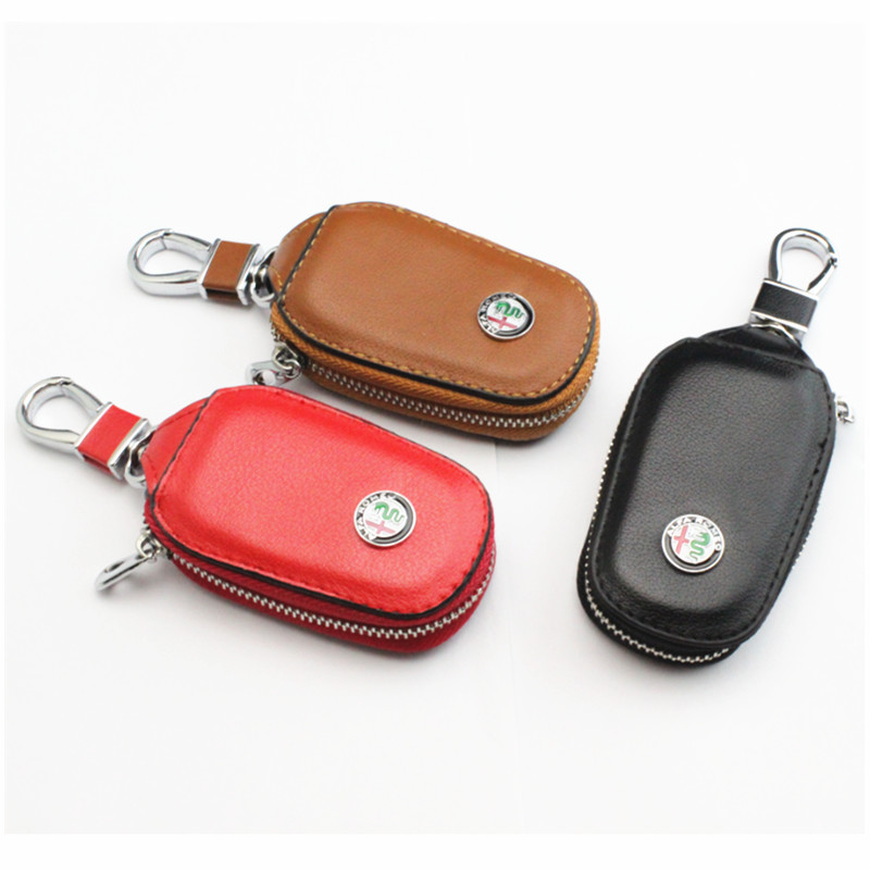 1pcs car key wallet case bag holder accessories da logo for alfa romeo mito giulietta giulia tz3. Black Bedroom Furniture Sets. Home Design Ideas