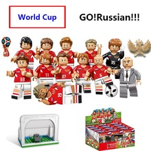 12pcs World Cup 2018 football team sports Figures Building Block Compatible With Lego city Russia Germany Bricks children Toys(China)