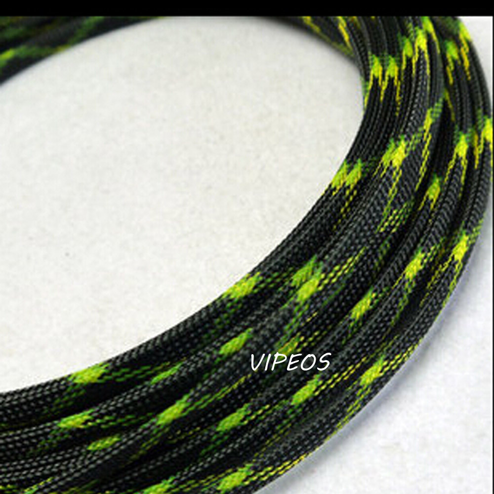 10Meter Braided Cable 8 15mm Wiring Harness Loom Protection/Sleeving  Black&Green-in Audio & Video Cables from Computer & Office on  Aliexpress.com | Alibaba ...