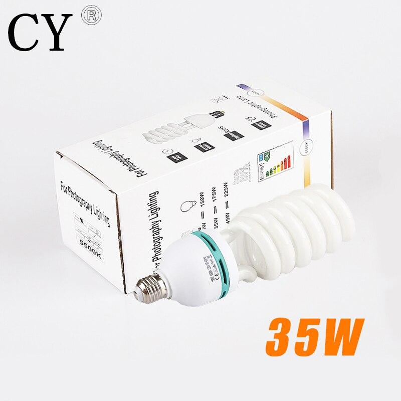 Lightupfoto 35W 5400K 220V Fluorescent Daylight Photo Bulb Lamp studio continuous lighting photography accessory PSLB0