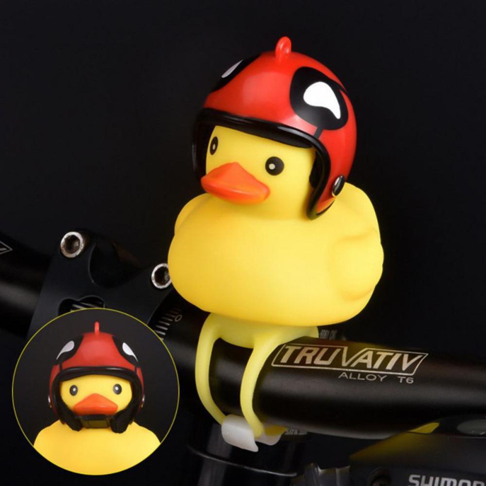 1 шт., мультяшная маленькая форма желтой утки, велосипедные колокольчики, легкие, прочные, милые, утка, горный велосипед, руль, аксессуары для ...