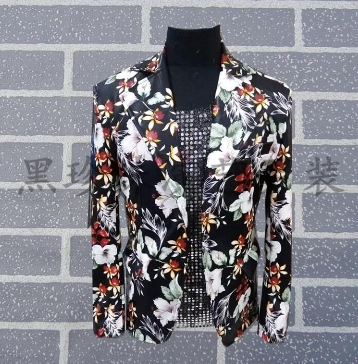 England Men Suits Designs Masculino Homme Terno Stage Costumes For Singers Men Sequin Blazer Dance Clothes Jacket Style Dress