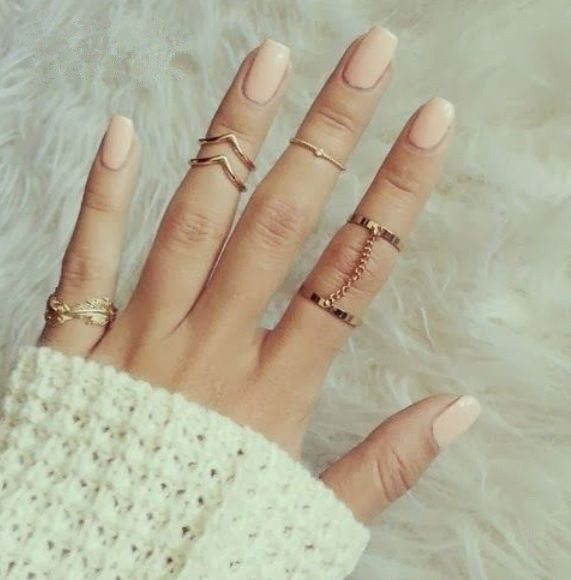 Fashion Gold Plated Stacking Midi Rings Charm Leaf Ring Women Jewelry - Crown Forever store