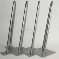 New Design 12inch 305mm Height 2Rod Hairpin Legs Set Of 4 Green 12mm Dia Cold Steel