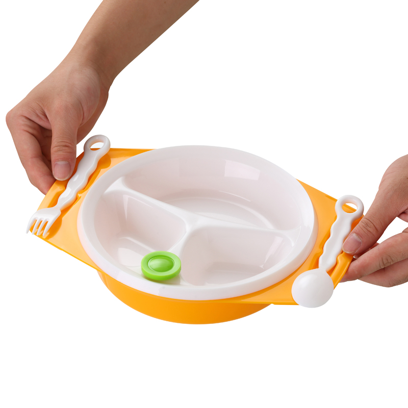 Baby Dishes Bowl With Sucker Separated Baby Food Children 39 s Dishes Baby Feeding Bowl Water Warm Anti Slip Kids Plate Child Dish in Dishes from Mother amp Kids