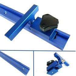 Novo alumínio t-entalhe t faixa com faixa de mitra 300-800mm roteador tabela gabarito fixação slot t-track ferramentas para madeira