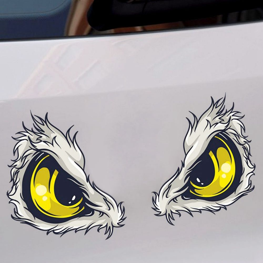 ADESIVO STICKER OCCHI PANTERA AUTO MOTO CAMION CAR TUNING EYE 3D DECALCOMANIA