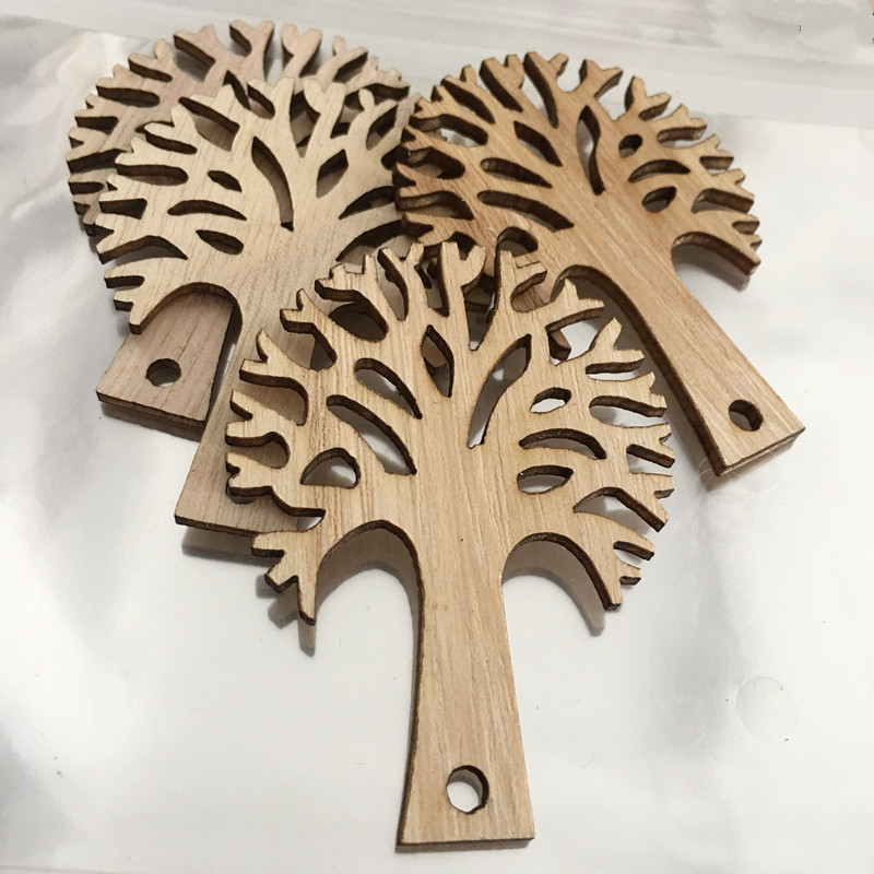20pcs/ Wooden Tree/home decoration/Holiday decoration/children gifts/DIY/Lovely/ ...