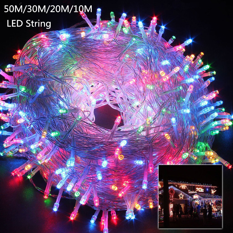 10M 20M 30M 50M LED string Fairy light holiday Patio Christmas - Holiday Lighting