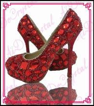 Aidocrystal 2015 crystal diamond rhinstone ladies fashion bling bling high heels red/blue/pink/yellow glitter wedding shoes