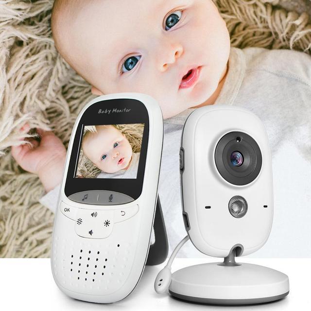 Bezprzewodowa elektroniczna niania 2.0 Cal niania kamera 2 Way Talk Night Vision IR LED monitor temperatury niemowlę dziecko Sleep Cam VB602