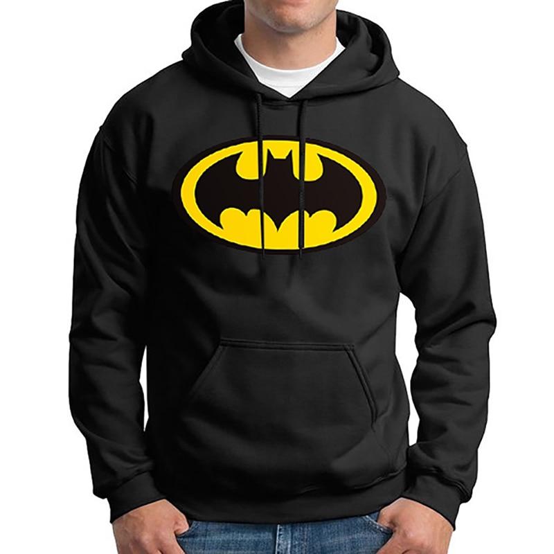 2018 Горячая Супермен Толстовка Batman Hooded Для мужчин Повседневное Осень-Зима Теплые кофты Для Мужчинs Повседневное спортивный костюм
