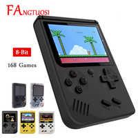Fangtuosi Video Console di Gioco 8 Bit Retro Mini Tasca Portatile Giocatore Del Gioco Built-in 168 Giochi Classici per Il Bambino Nostalgico Lettore