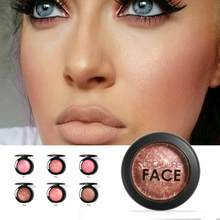 FOCALLURE Natural Face Pressed Blush Makeup Baked Blush Palette Baked Cheek Colors Cosmetic Face Shadow Press Powder(China)