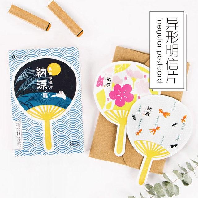 30 pcslot cute japanese fans postcard novelty heteromorphism 30 pcslot cute japanese fans postcard novelty heteromorphism greeting card christmas card birthday message filmwisefo