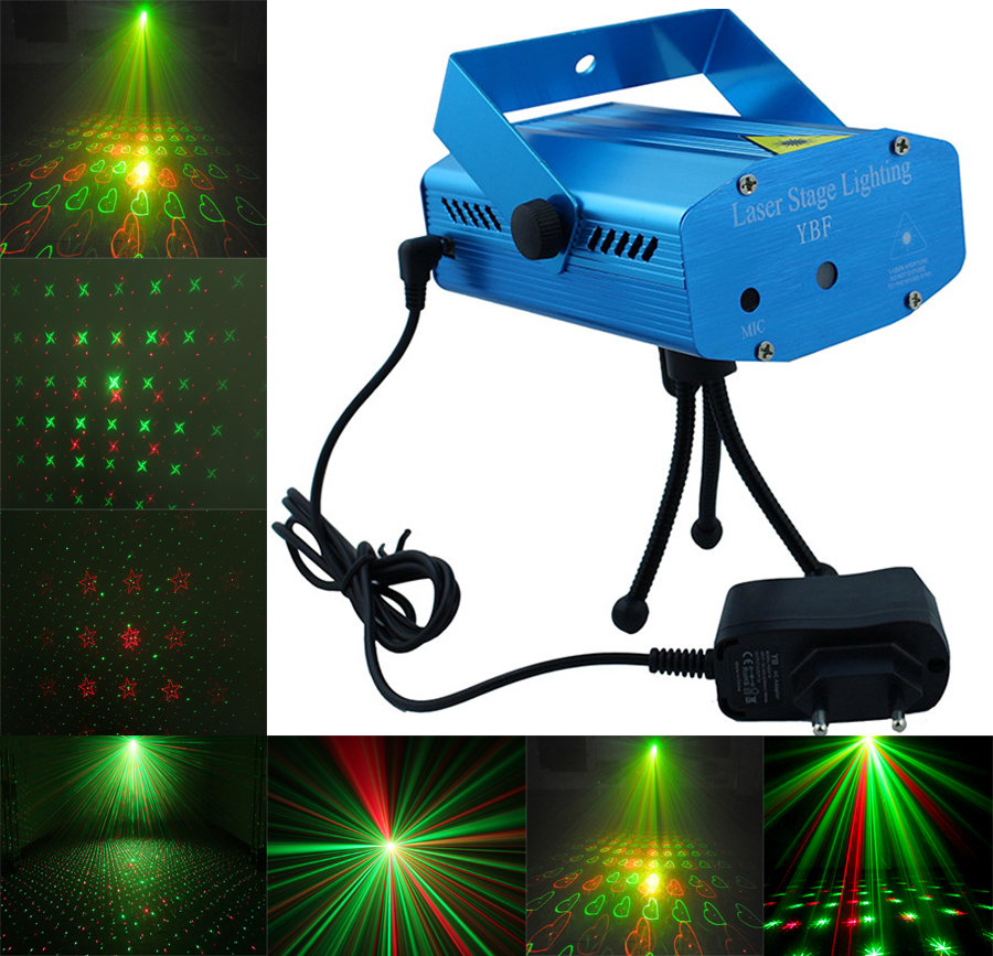 Blue Mini Lazer Pointer Projector Light DJ Disco Laser Stage Lighting AC110 240V For Party Entertainment
