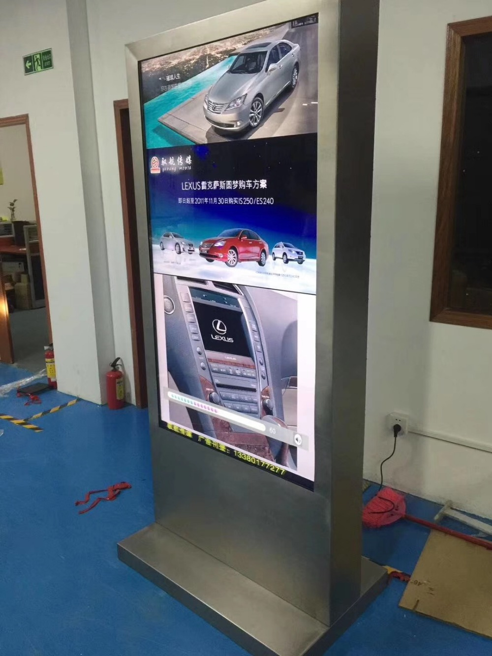 Customize various DIY functions led big screen single/ android/ PC version advertising HD display signage 49 55 60 65inch