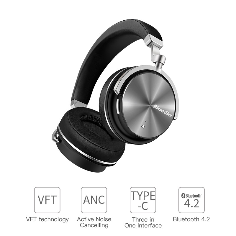 6998ac3d48c Bluedio T4S Noise Cancelling headphones Wireless Bluetooth headset stereo  sound with microphone for phones xiaomi huawei