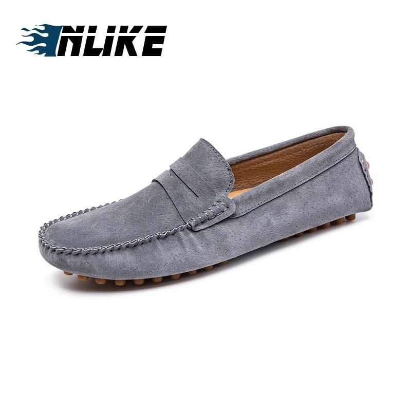 Des De Luxe Inlike Glissement Marque Respirant Cuir bleu VéritableHomme Taille Hommes Conduite Noir gris brown Chaussures Grande Mocassins Sur Décontractées qMUzVpS