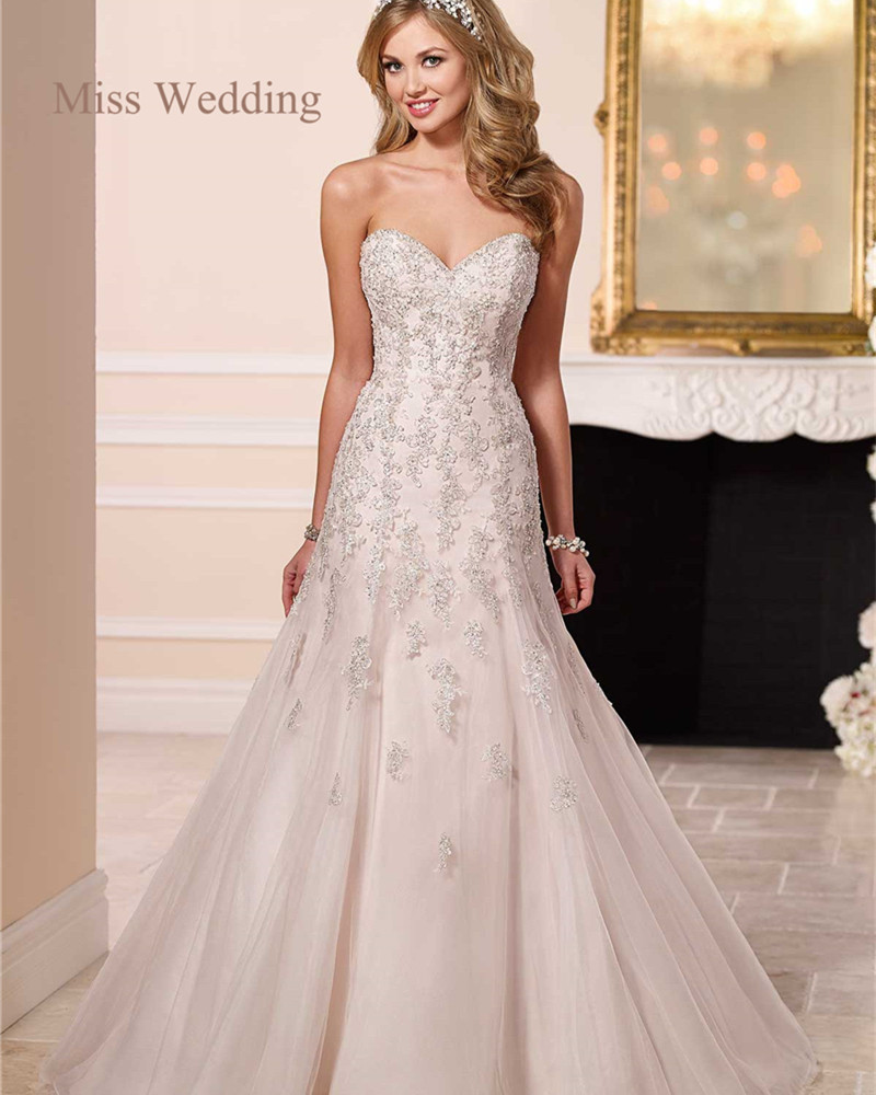 Princess Neckline Wedding Dress - Wedding Dresses