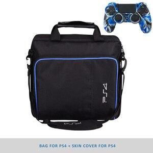 Image 2 - Ps4/ps4 프로 슬림 게임 시스템 가방에 대 한 원래 크기 플레이 스테이션 4 콘솔에 대 한 보호 어깨 캐리 가방 핸드백 캔버스 케이스