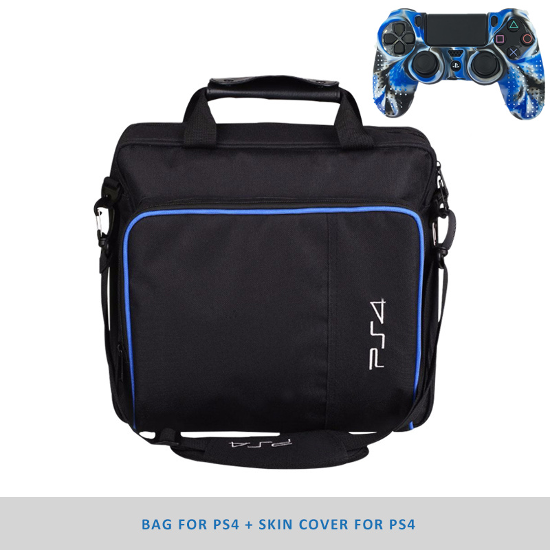 ps4 accessories Console Bag for PS4 Game System Canvas Carry Bags Case Shoulder Bag Handbag for PlayStation4 PS4 game accessories travel storage carry case shoulder bag for ps4 pro one set of ps4 pro console skin sticker as free gift