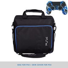 Tas Consol pelindung untuk PS4 Game Sytem Canvas Carry Bags Case Shoulder Bag Handbag untuk PlayStation 4 PS4 Console
