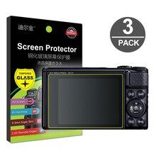 3x מזג זכוכית מסך מגן עבור Canon Powershot SX60 SX70 SX740 SX730 SX720 SX710 SX620 SX610 HS