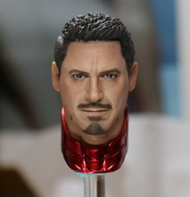 1/6 scale figure Accessory Iron Man headsculpt Tony Stark head shape for 12″ Action figure doll ,Not included body and clothes