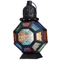 Moroccan Style Candle Holders Iron Glass Candle Holder Wedding Party Home Decor Romantic Dinner Hanging Lantern