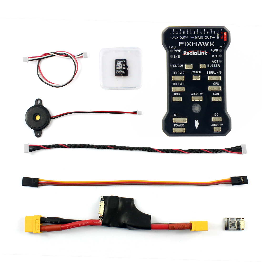F17882 Radiolink PIX Flight Controller & Power Module Buzzer 4G TF for AT9/AT10 Remote Controller OSD DIY RC Multicopter Drone 1pcs radiolink osd information telemetry module prm 03 for radiolink at9 at9s at10 at10ii transmitter