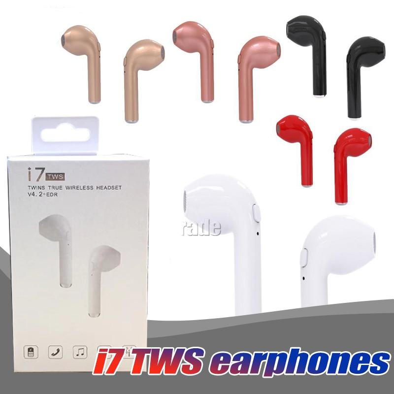 10PCS Lot Original i7 TWS Twins True Wireless Earbuds Earphone Mini Bluetooth V4 2 DER Stereo