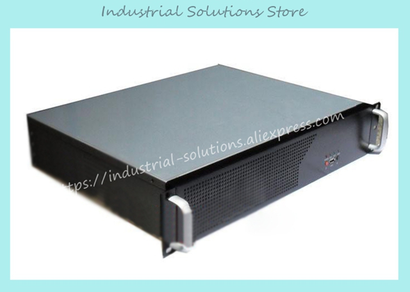 все цены на NEW Short 2u computer case 2u industrial computer case 2u server 3 fan 3 hard drive aluminum panel quality онлайн