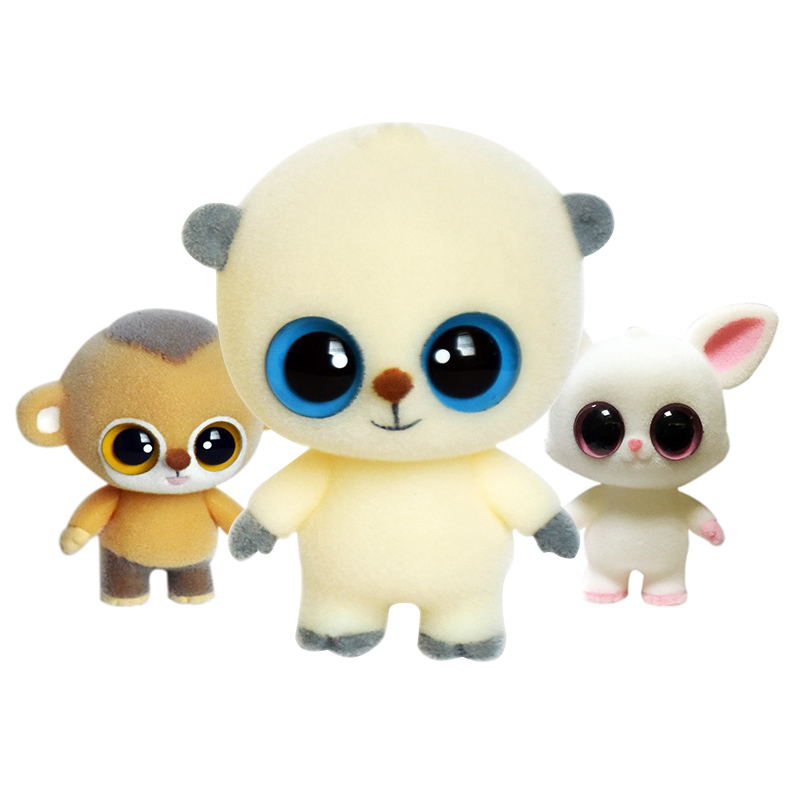 Cute Big Eyes Monkey Dolls Flocking Doll Toys Kawaii Mini  Decoration Toys For Girls Little Exquisite Dolls Best Christmas Gifts