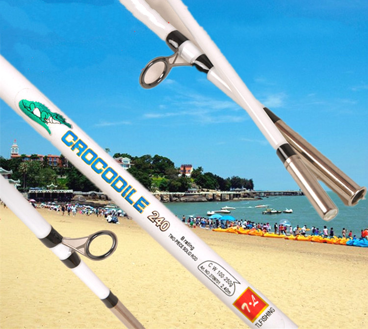 ФОТО FRP Spinning Lure Rod Raft Boat Rod 1.2/1.35/1.5/1.65/1.8/2.1/2.4/2.7m 2 Section Power L Strong Fishing Rod