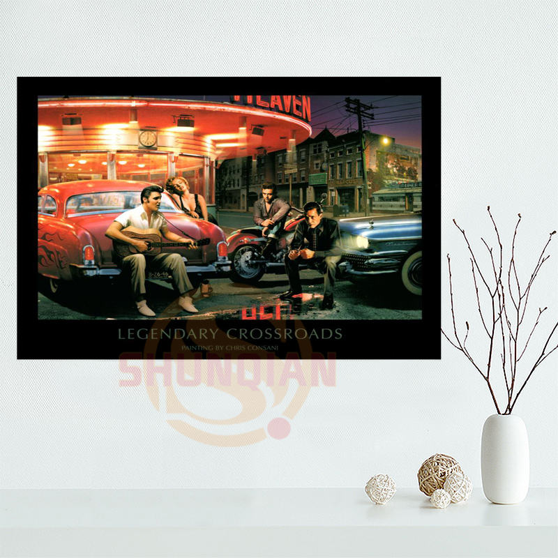 James Dean Marilyn Monroe, Elvis Presley Poster Custom