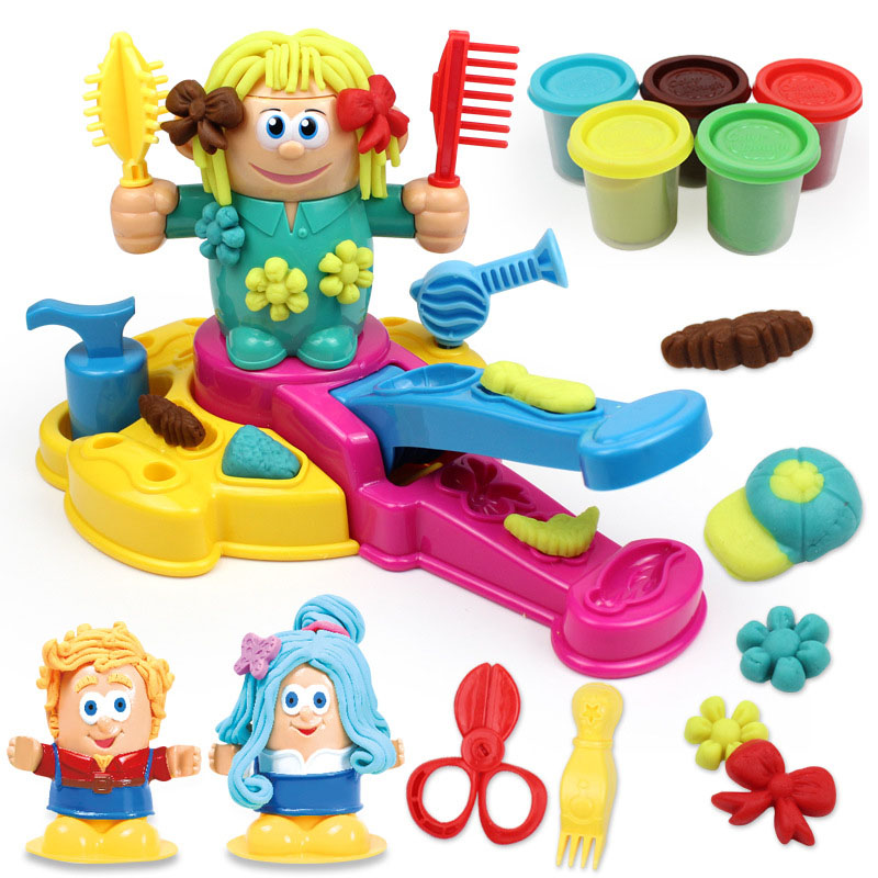 Colorful Kids Plasticine Play Dough Toys Model Set For Children Manual DIY Clay Tool Funny Pretend Play Simulation Education Toy