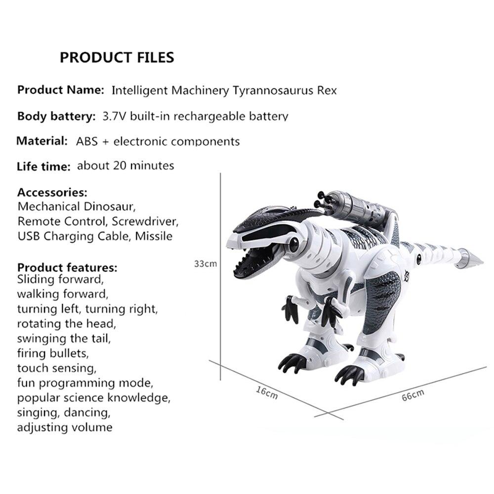 Dinosaure robots marche dinosaures électronique dinosaurio jouets interactive à distance jouets Interactifs Robots jouet robot rc - 6
