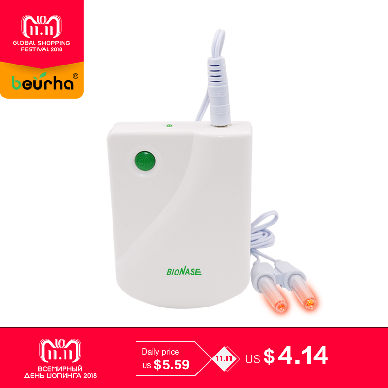 Beurha Proxy BioNase Nose Rhinitis Sinusitis Cure Therapy Massage Hay fever Low Frequency Pulse Laser Nose Health Care Machine cozing hot bionase rhinitis sinusitis nose therapy massage device cure hay fever low frequency pulse laser therapentic masseur