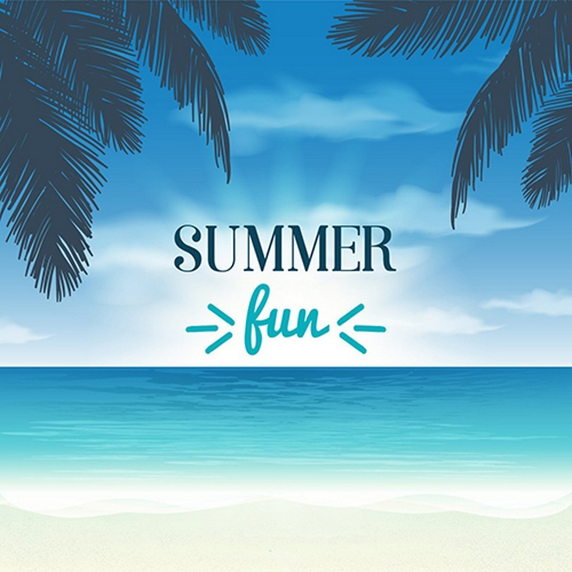 Blue Sky Cloud Leaves Summer Beach photo backdrop Vinyl cloth High quality Computer printed wall Backgrounds
