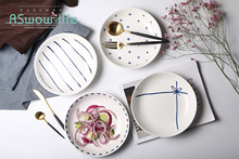 Ceramics Simple On The Plate Hotel Western Dishes Home Creative Fruit Gift Tableware For Kitchen Serving