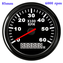 Waterproof Car Boat Tachometer Gauge RPM Tachometer With Hour Meter 6000 /4000 /8000 RPM Gauge for Audi Peugeot BMW Ford Focus цена 2017