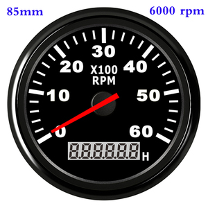 Waterproof Car Boat Tachometer Gauge RPM Tachometer With Hour Meter 6000 /4000 /8000 RPM Gauge for Audi Peugeot BMW Ford Focus(China)