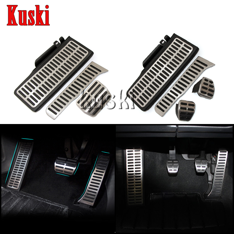 1Pair High Quality Stainless Steel Car Pedal Styling For Volkswagen VW Passat B6 B7 CC Skoda Superb /AT /MT Accessories high quality 1 pair right