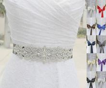 2016 Women New Crystal Rhinestone Beading Wedding Bridal Dress Belt Cummerbunds Sash Waistband Girdle Accessories