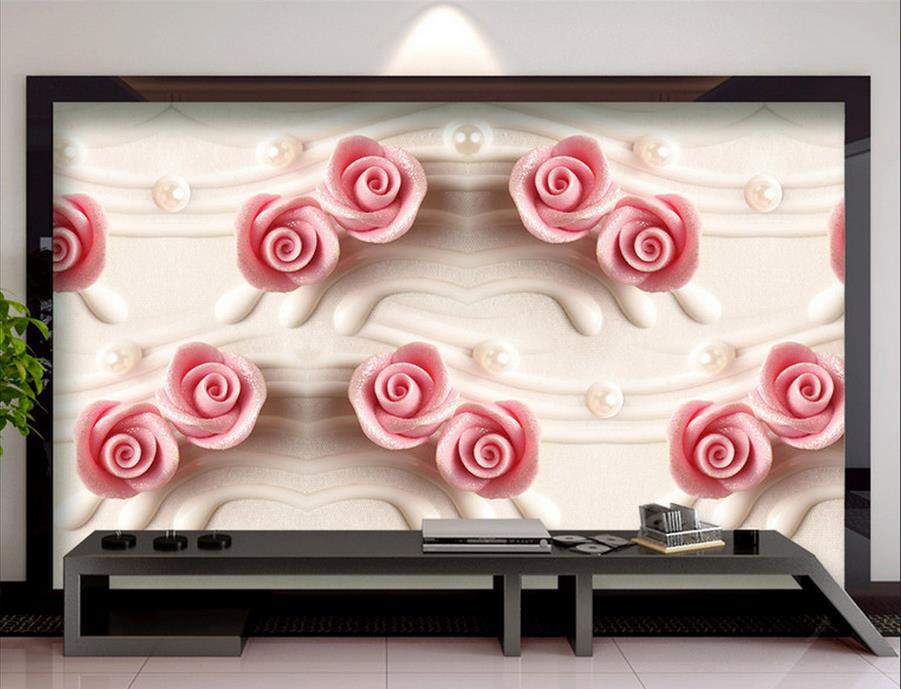 customize 3d luxury mural wallpaper Roses livingroom wallpaper for walls 3d photo wall mural modern wallpaper
