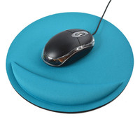 VOBERRY Mouse Pad Wrist Rest Support Thicken Mouse Pad Multi-color Soft Comfort Mouse Pad Mat Mice Anti Slip Circular 21 * 21cm