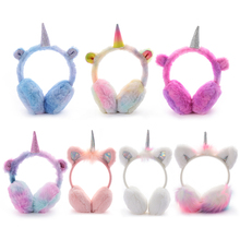 Unicorn Plush Warm Earmuffs For Kids